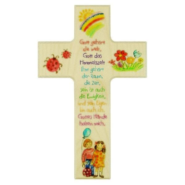 """Kinderkreuz """"Gott gehört die Welt"""""""