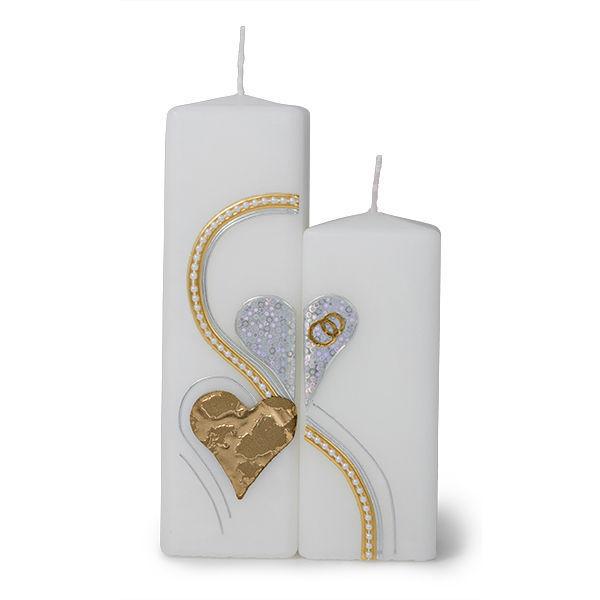Hochzeit - Hochzeitskerzen zwei Herzen