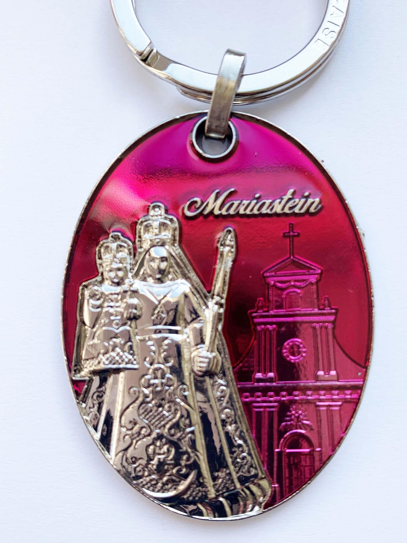 Schlüsselanhänger Mariastein rot
