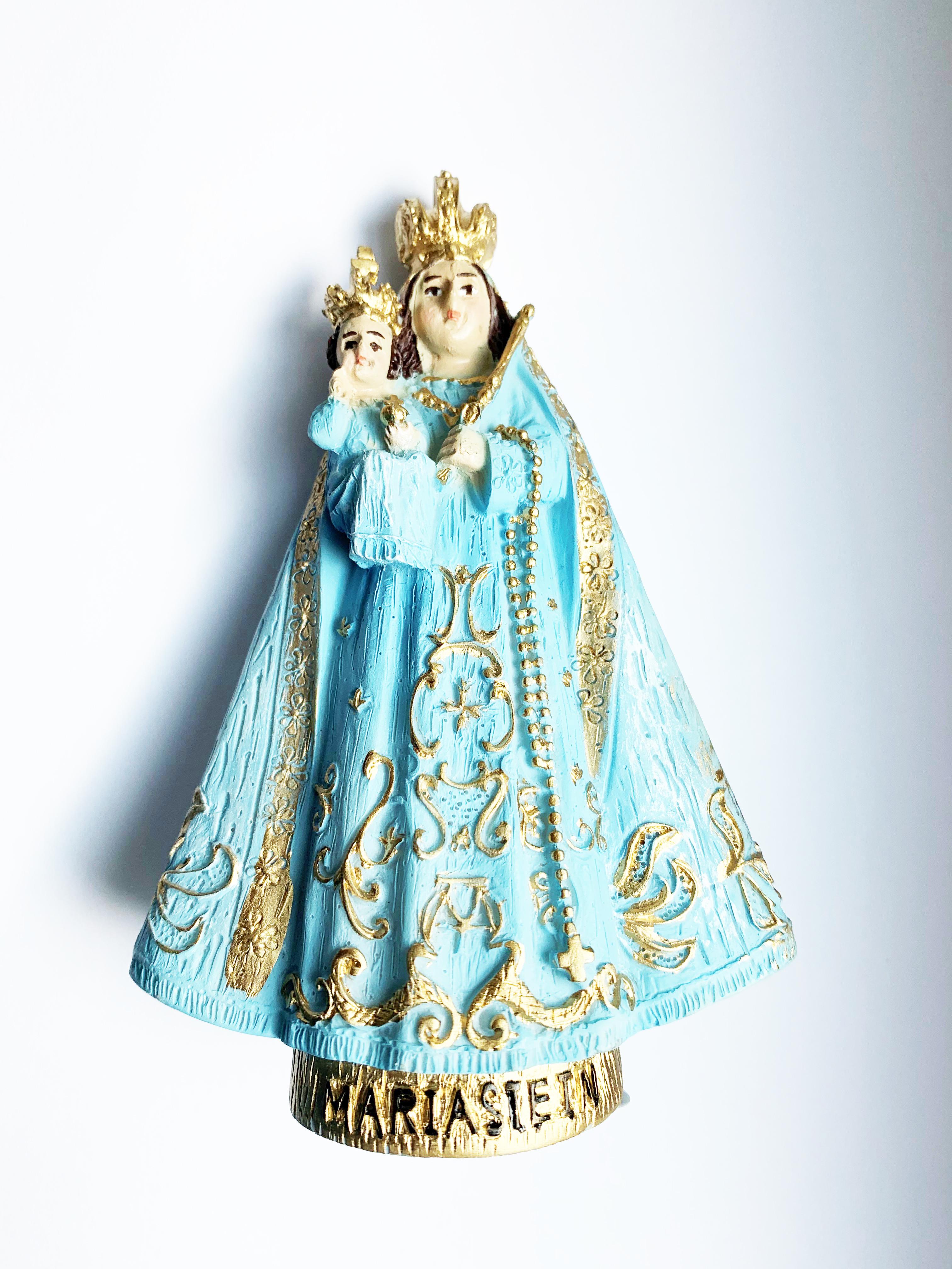Madonna Mariastein blau